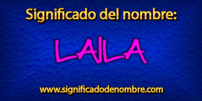 Significado de Laila
