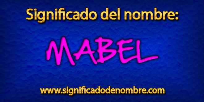Significado de Mabel