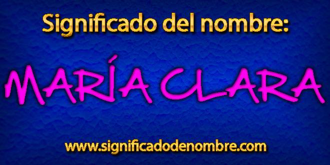 Significado de María Clara