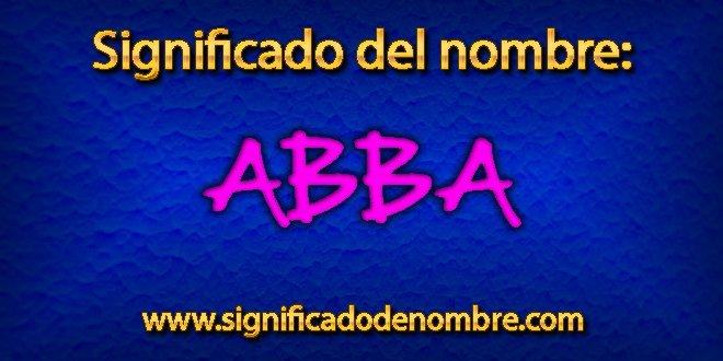 Significado de Abba