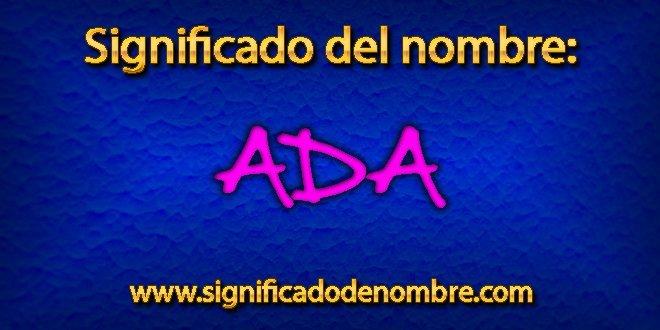 Significado de Ada