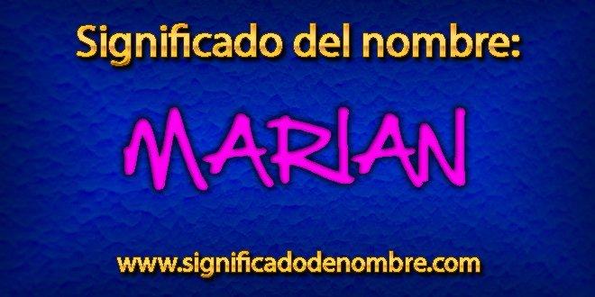 Significado de Marian