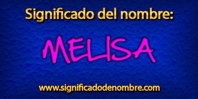 Significado de Melisa