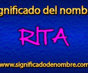 Significado de Rita