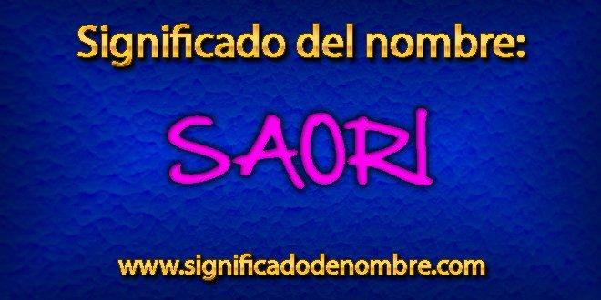 Significado de Saori