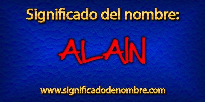 Significado de Alain
