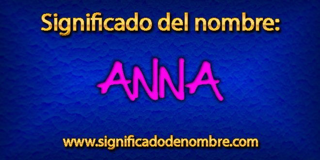 Significado de Anna