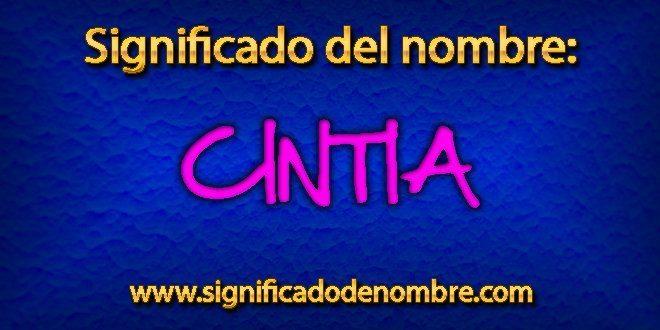 Significado de Cintia
