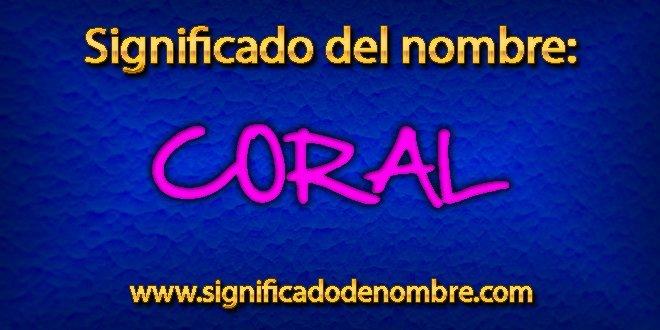Significado de Coral