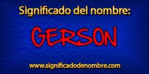 Significado de Gerson