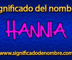 Significado de Hannia
