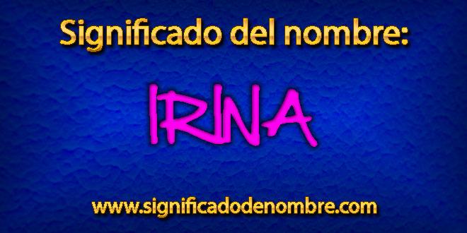 Significado de Irina