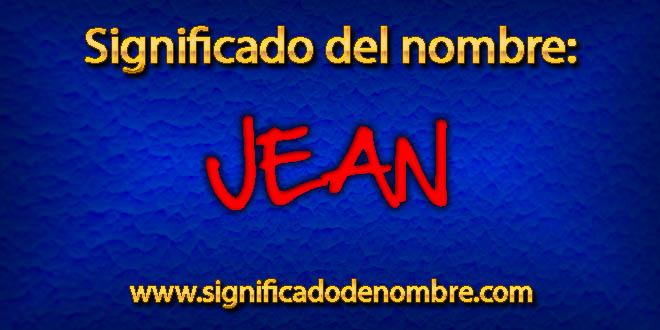 Significado de Jean