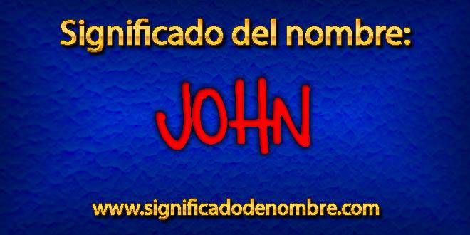 Significado de John