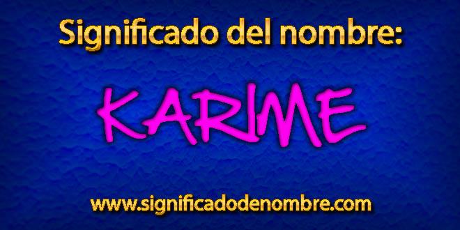 Significado de Karime