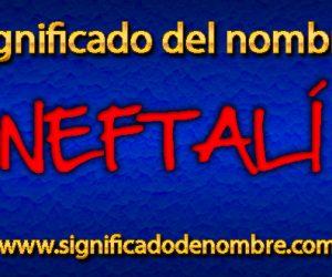 Significado de Neftalí