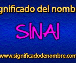 Significado de Sinai