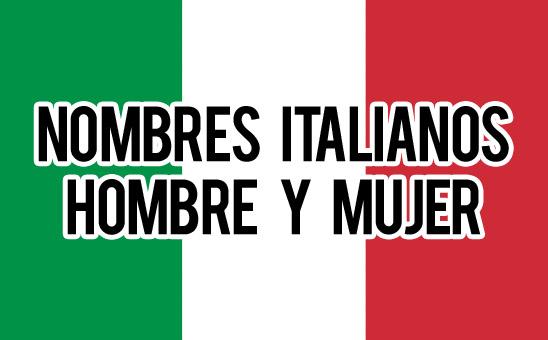 Nombres Italianos de Mujer y de Hombre