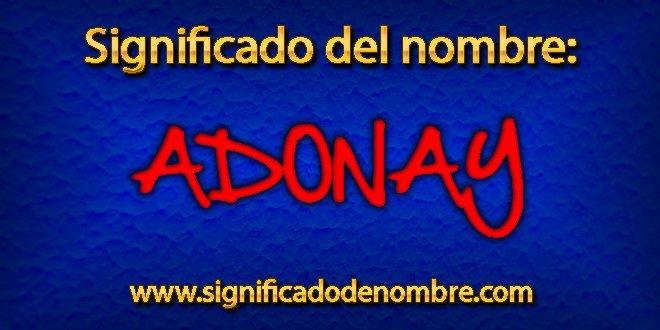 Significado de Adonay