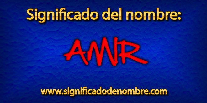 Significado de Amir