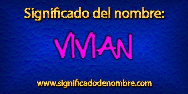 Significado de Vivian