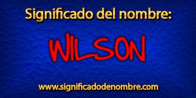 Significado de Wilson