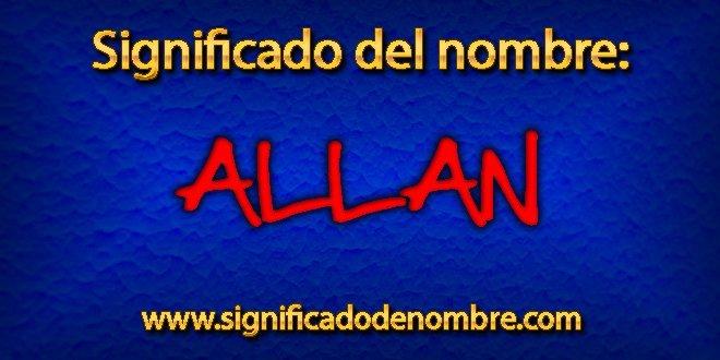 Significado de Allan