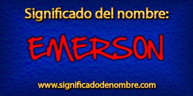 Significado de Emerson