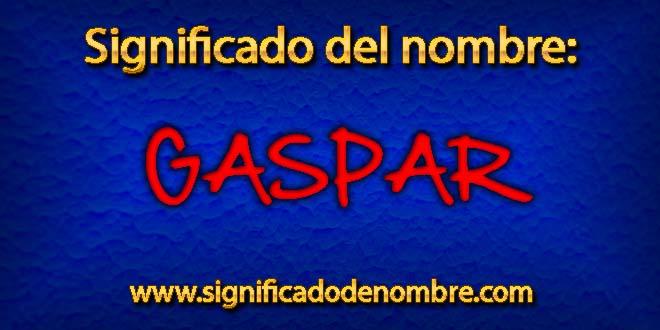 Significado de Gaspar