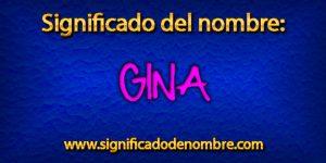 Significado de Gina