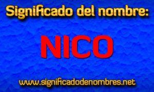 Significado de Nico