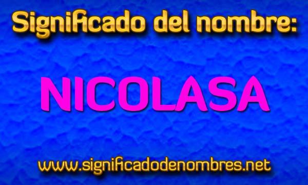 Significado de Nicolasa