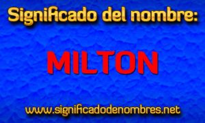 Significado de Milton