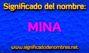 Significado de Mina