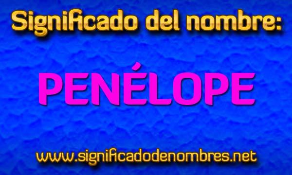 Significado de Penélope