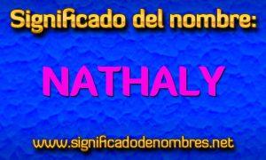 Significado de Nathaly