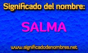 Significado de Salma