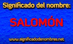 Significado de Salomón