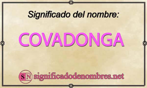 Significado de Covadonga