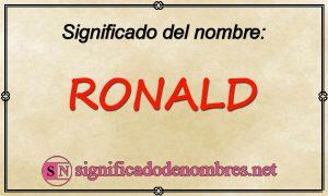 Significado de Ronald