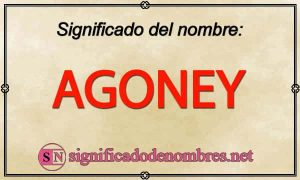 Significado de Agoney