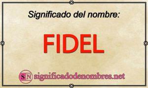 Significado de Fidel