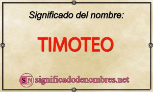 Significado de Timoteo