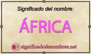 Significado de África