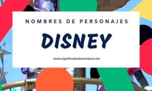 Nombres de Personajes Disney