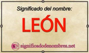 Significado de León