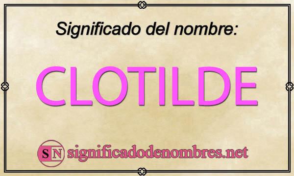 Significado de Clotilde
