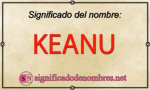 Significado de Keanu