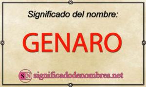 Significado de Genaro